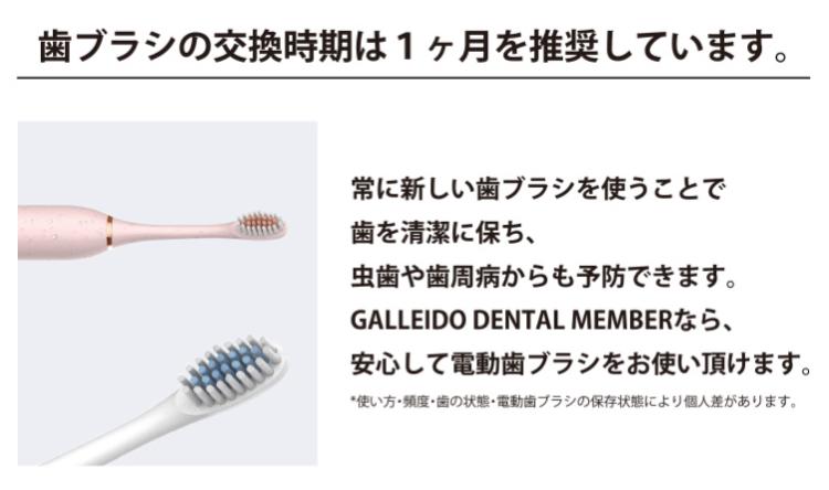 歯ブラシの交換時期の目安は「1ヶ月」